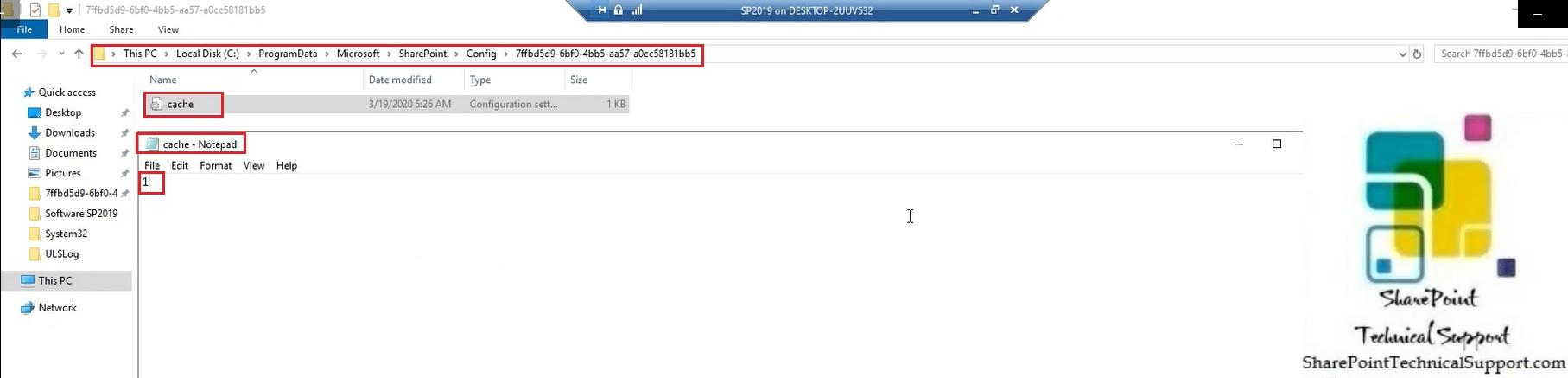 edit the vluse present under file cache