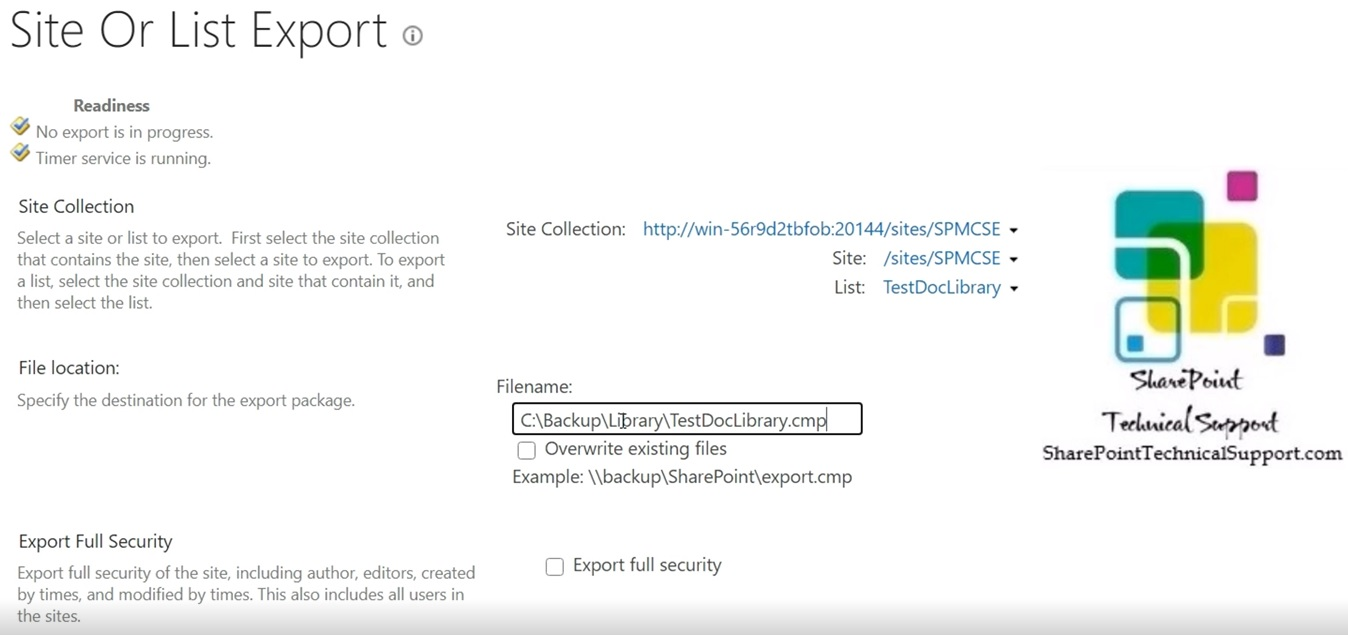 select site list library in sharepoint from contact database unattached