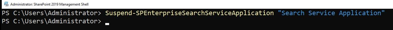 suspend search service application